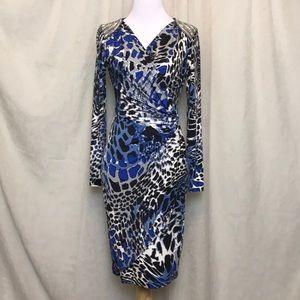 Cache Leopard Print Dress Size XS